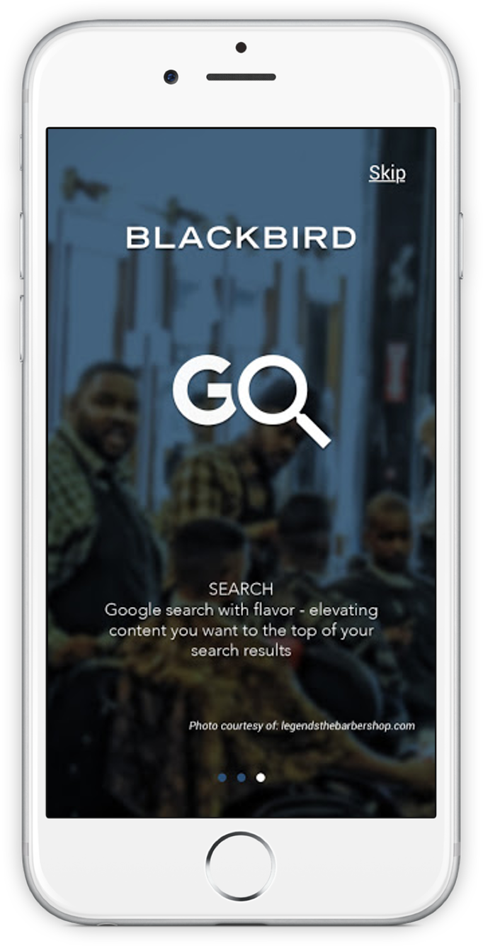 Screenshot of Blackbird Mobile